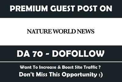 Publish Guest Post on Natureworldnews, Natureworldnews.com DA71