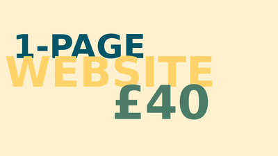 Create a stunning and powerful 1-page website