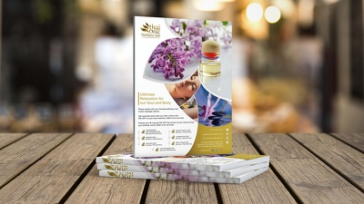 Design single page flyer leaflet pester within a day