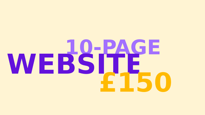 Create a 10-page website with all essential features