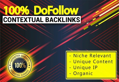 Create high authority high pr contextual dofollow seo backlinks