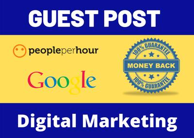 Write & Publish 3 Guest Post Blog Post Digital Marketing Niche