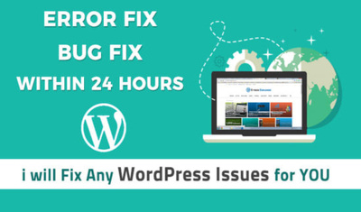 I will fix wordpress issues and bugs within 24 hour