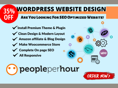 Create wordpress website design or blog with SEO optimization