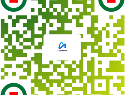 Create QR code for your company with logo and text embedded.