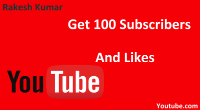 Give you 100 Subscribers on YouTube Channel