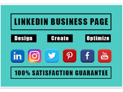 Design setup and optimize linkedin business page or company page