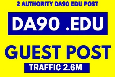 Write and Post on 2 Quality DA90+ Traffic 2.6M Authority blog