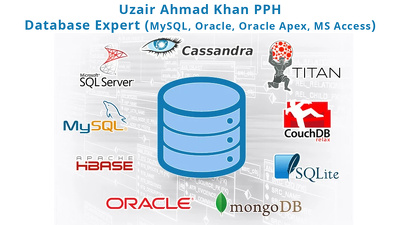 Database in MySQL, Oracle, Oracle Apex, MS Access and MongoDB
