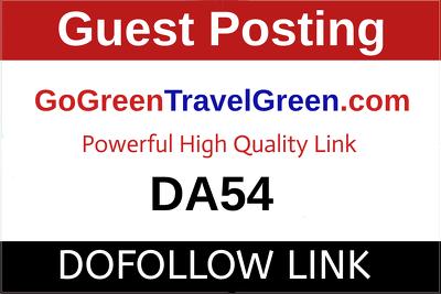 Guest Post on Gogreentravelgreen.com - GoGreenTravelGreen