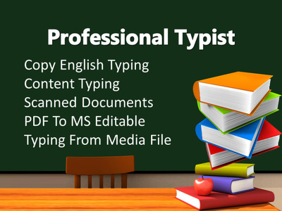 Type up hand written documents (maximum 20 pages)