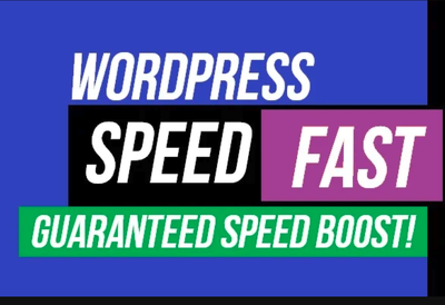Guaranteed WordPress Speed Optimization + Free One Month Support