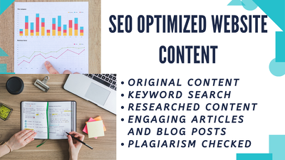 Write an SEO web content, blog article for your business