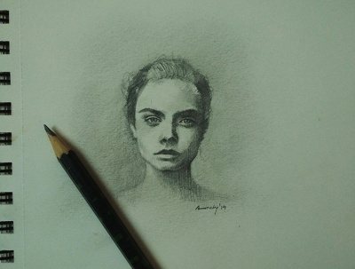Make realistic portrait drawing