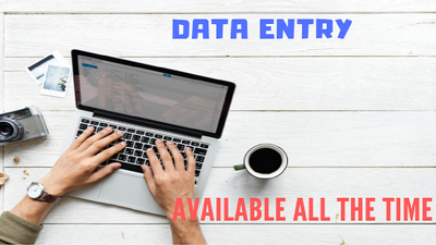Do hourly data entry or copy paste work and deliver in 1 day