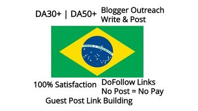 Guest Post Link Building Brazil(.br) Sites