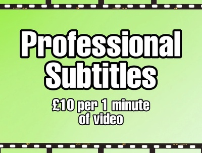 add professional English subtitles to your video!