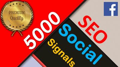 ⭐️ 5000 Social Signals Facebook Shares ⭐️