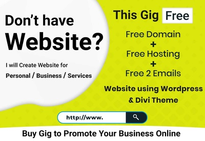 Create Website for Personal / Business / Services