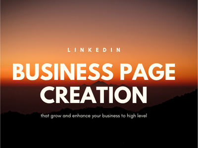 create and optimize Linkedin business page