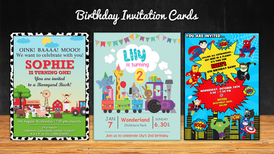 Design a custom invitation card for any occasion