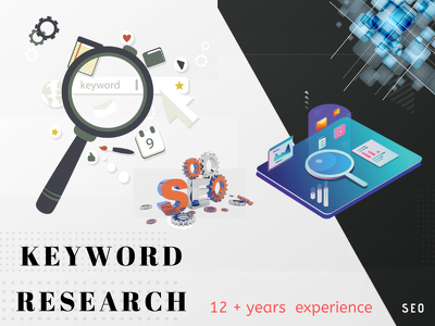 Do 20 profitable keyword research with 2 competitor analysis