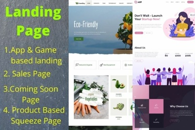Design landing page/home / sales /opt in page for your business