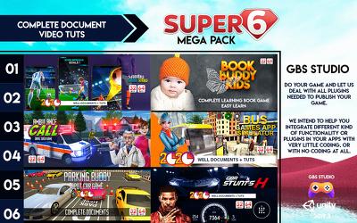 GBS Studio's Super 6 Mega Bundle: 6 Unity 2019 High-End Games -8