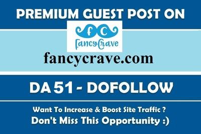 Publish Guest Post fancycrave, fancycrave.com News DA51 DoFollow