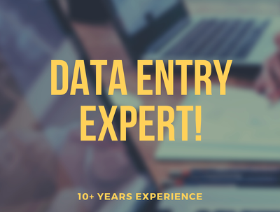 Do any data entry or data scraping for one hour