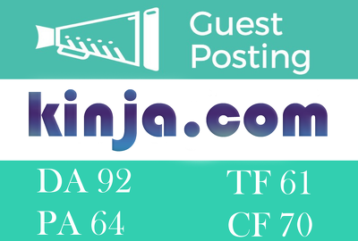 Guest Post on Kinja.com With Dofollow Backlink