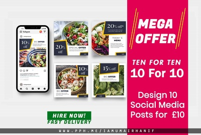 Design social media ads Instagram post and design facebook ads