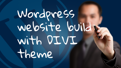 Wordpress website build with DIVI theme
