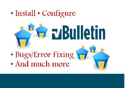 I will install Vbulletin Forum and customize it..