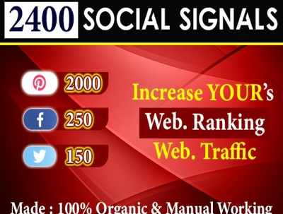 Provide 2400 social signals to increase your website rank