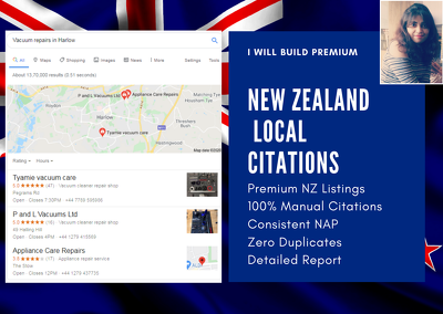 Build 60 Premium New Zealand Local Citations