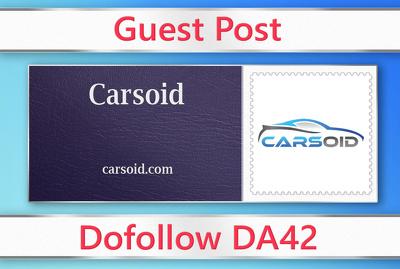 Guest post on Carsoid - carsoid.com - DA42