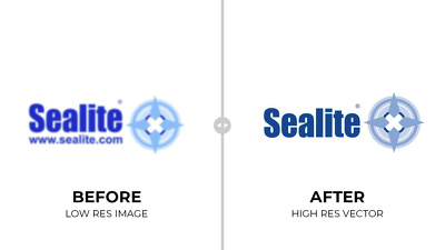Redraw your existing logo or artwork as a high resolution vector