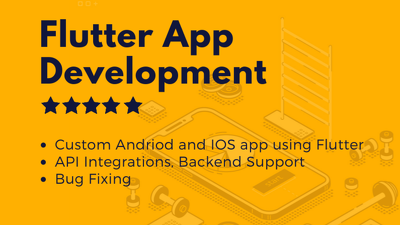 Develop IOS and android mobile app using flutter