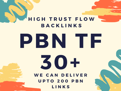 Do 5 Homepage TF 30+ PBN Backlinks – With UNIQUE Content