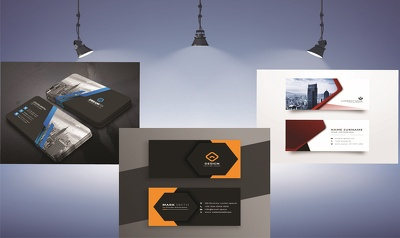 Design professional business card in 2 concept