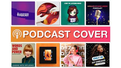 Designs professional Podcast cover art