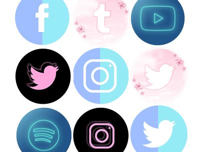 Design custom social media icons for your website