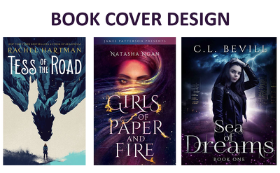 Design an impressive book cover with infinite revisions
