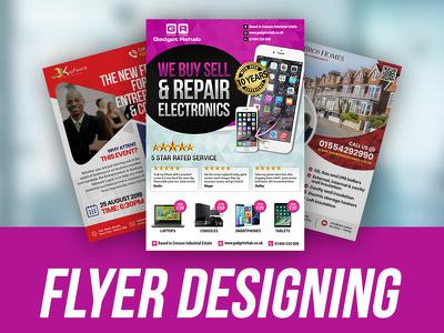 Design Double Side Flyer/ Poster/ Leaflet/ Book Cover
