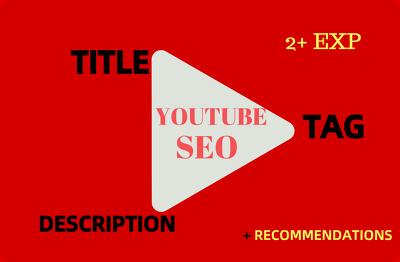 Do youtube seo, write optimized title, tag and description