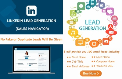 Collect 100 active leads from LinkedIn Premium (Sales Navigator)