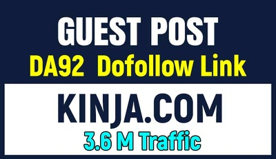 Publish a Guest Post on Kinja.com With Dofollow Backlink