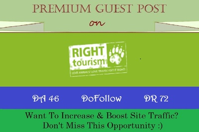 Write & Post HQ Travel Guest Post on Right-Tourism.com - DR 72