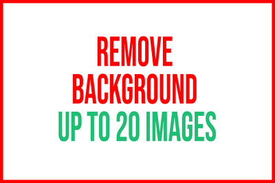 Remove background, crop, resize, cut out 20 photos in 8 hrs